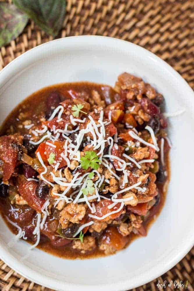 3 Bean Turkey Chili - Dash of Herbs
