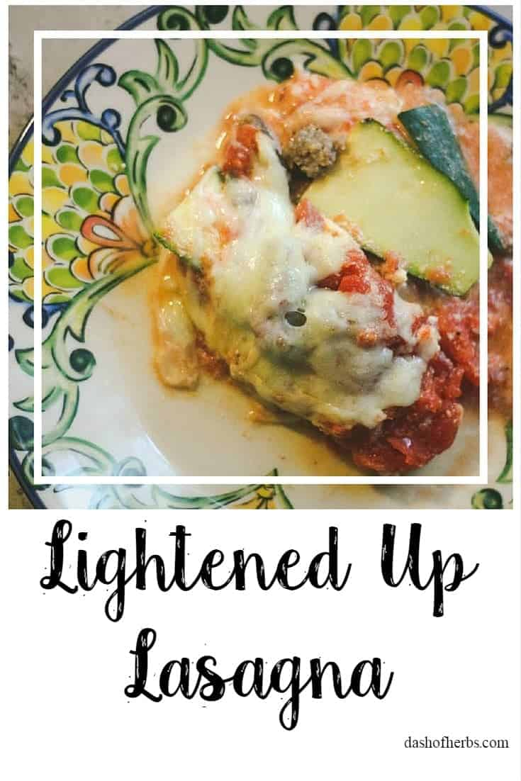 Using zucchini instead of lasagna noodles can make a typically high calorie and fat meal, low-carb.