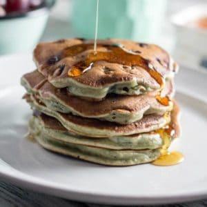 Whole Wheat Blueberry Lemon Pancakes