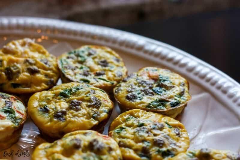 Turkey Sausage and Spinach Mini Quiches