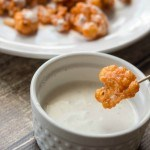 Roasted Buffalo Cauliflower with Light Ranch Dressing