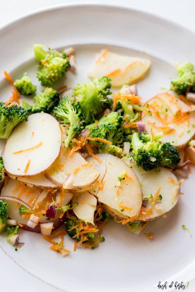 Easy Potato and Broccoli Mashup