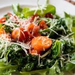 Roasted Kale Salad With Lemon Dressing