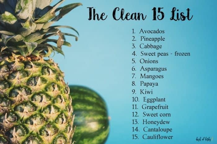 The Produce Clean 15 List - Dash of Herbs