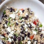 Healthy Black Bean and Feta Quinoa Salad