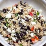 Healthy Black Bean Quinoa Salad with Feta