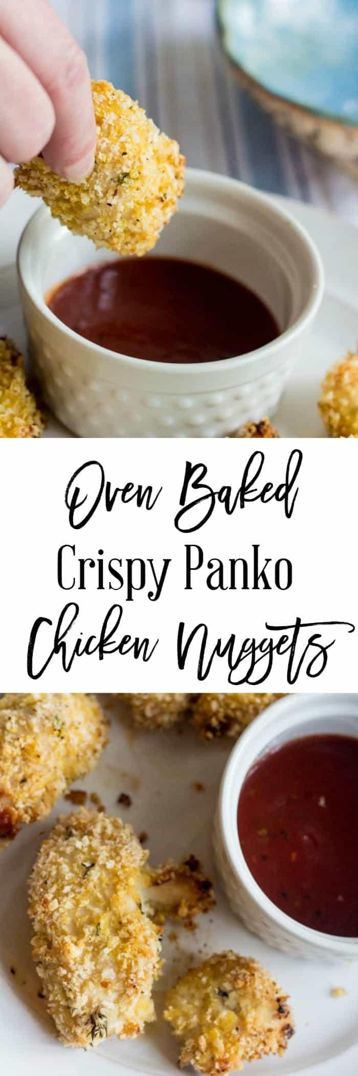 Oven Baked Crispy Panko Chicken Nuggets