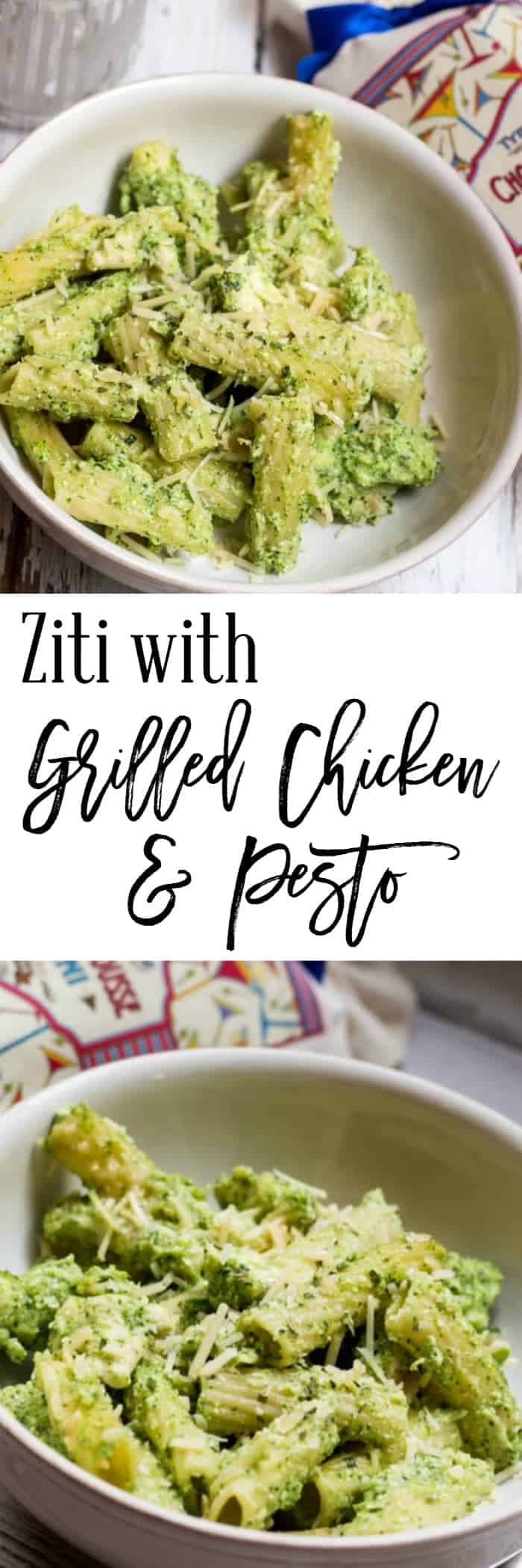 Ziti with Grilled Chicken and Pesto