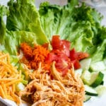Slow Cooker Shredded Buffalo Chicken Salad
