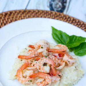Terragon Shrimp with Parmesan Risotto