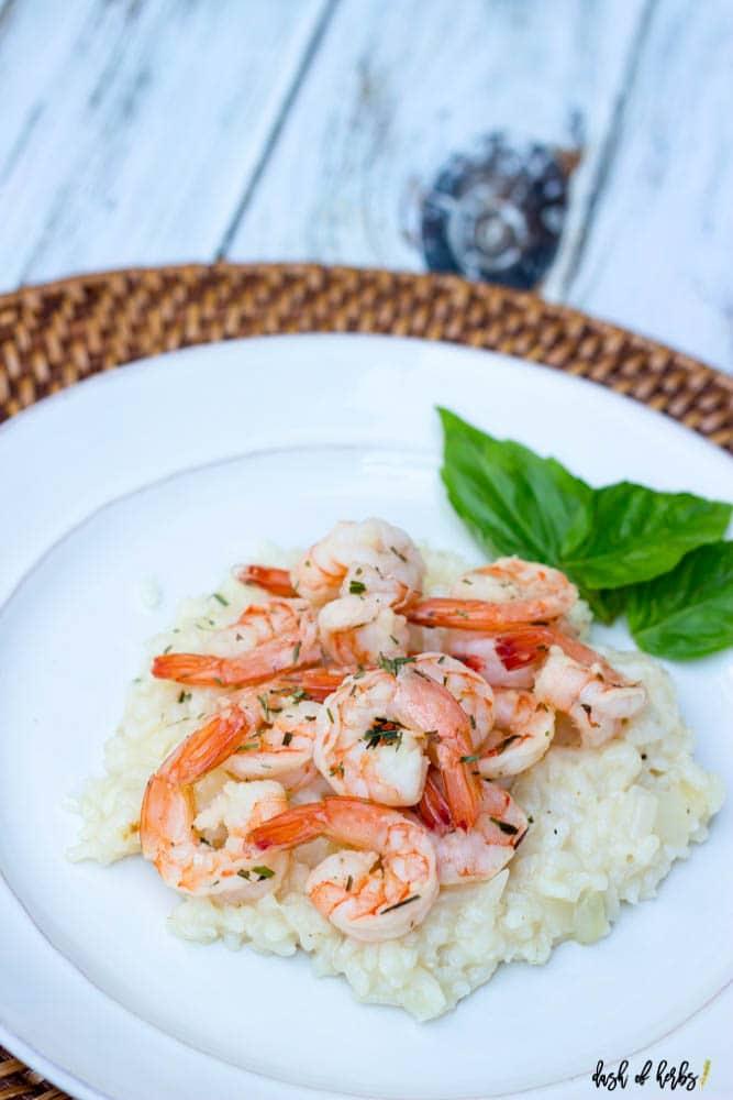Terragon Shrimp with Parmesan Risotto