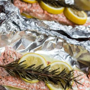 Baked Salmon In Foil Packets Dash Of Herbs