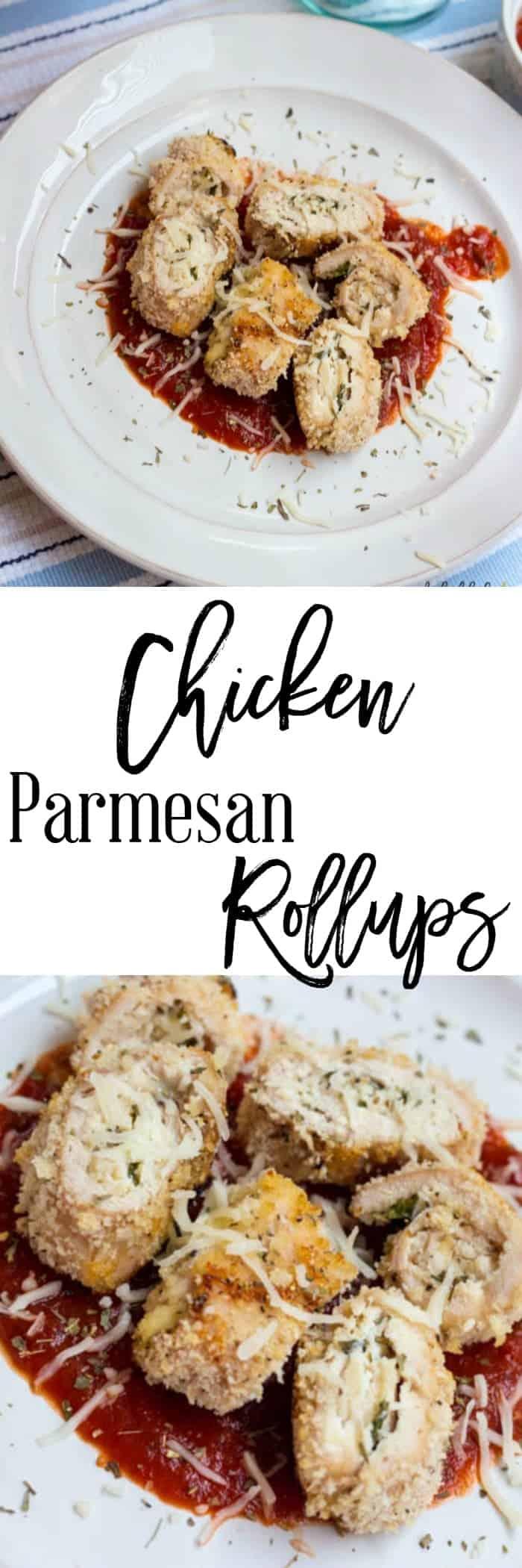 Chicken Parmesan Rollups