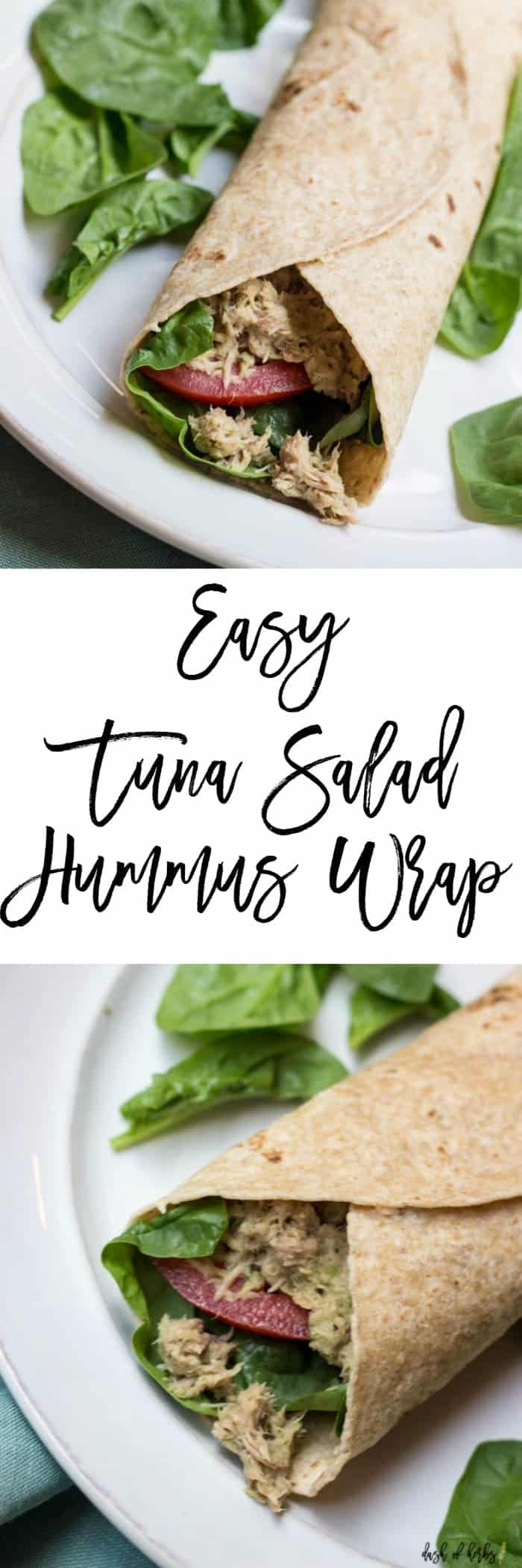 Easy Tuna Salad Hummus Wrap