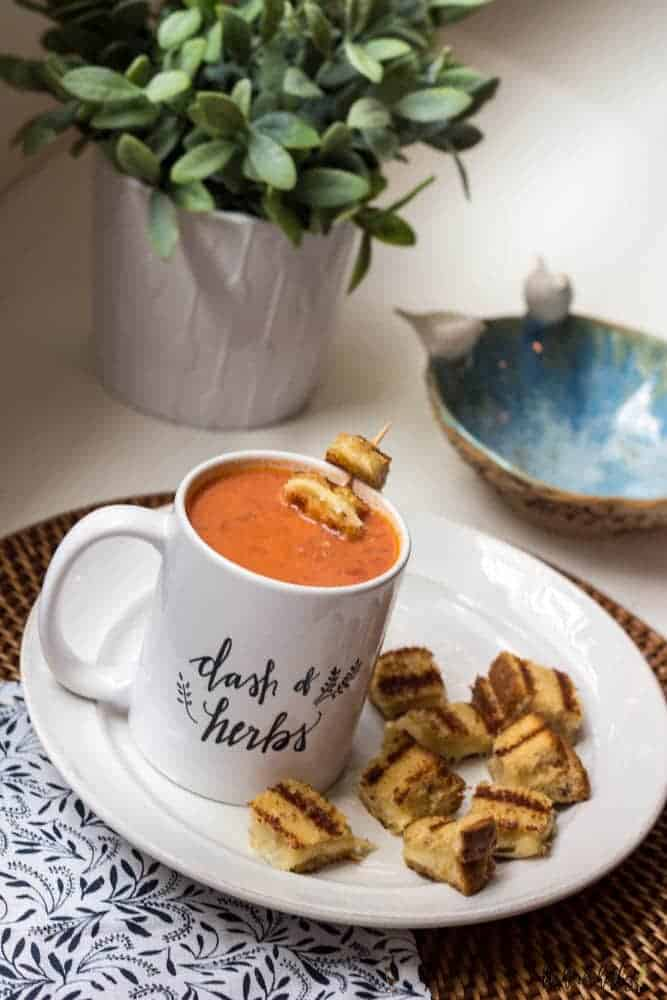 Amazing Tomato Soup with Grilled Cheese Bites