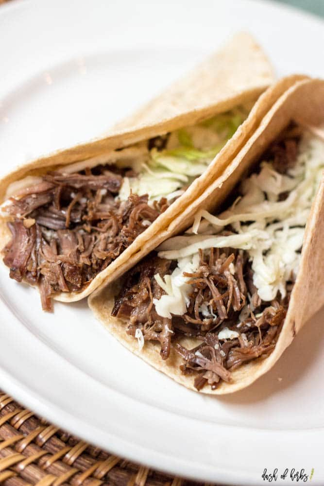 Slow Cooker Coca-Cola Life Korean Beef Tacos