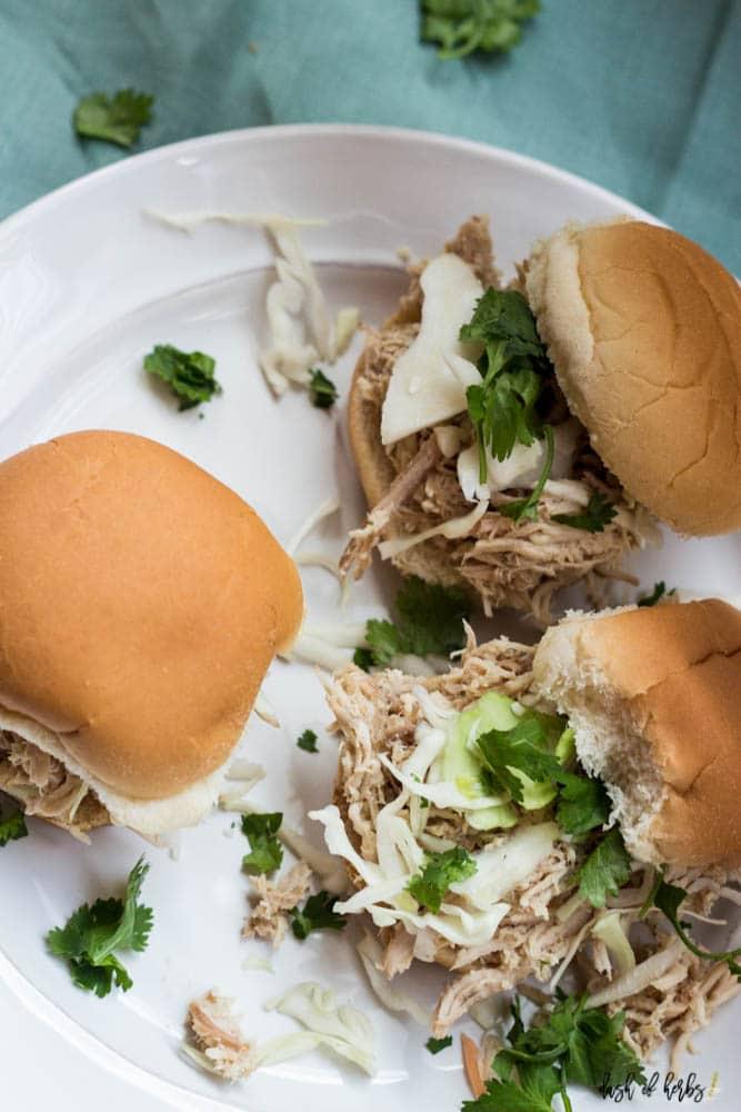 Slow Cooker Asian Chicken Sliders