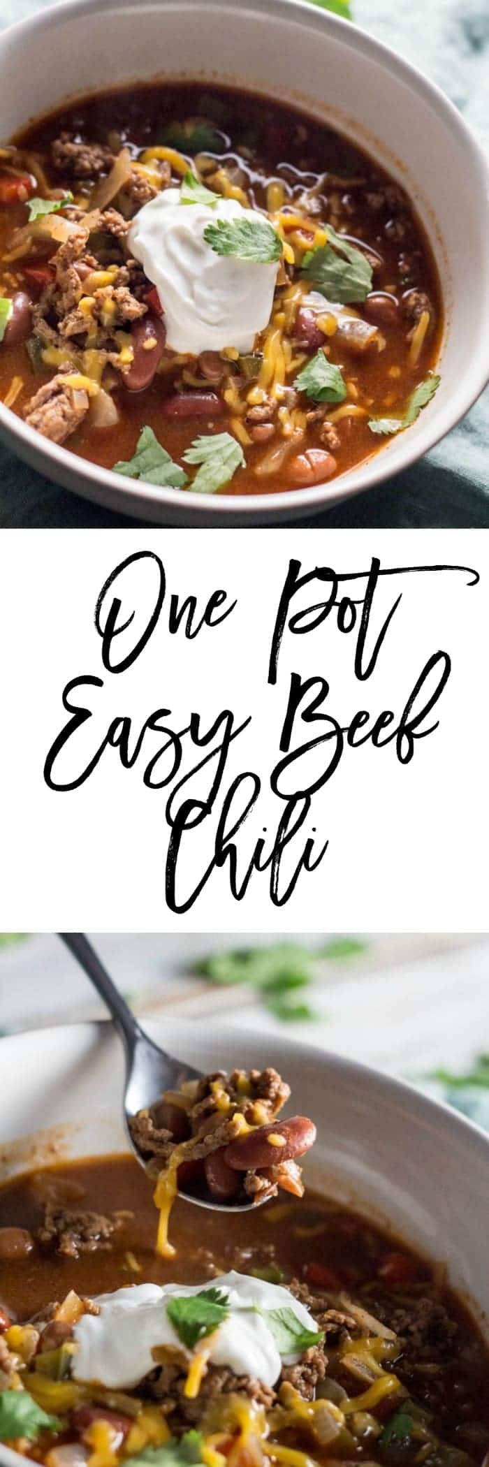 One Pot Easy Beef Chili