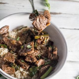 Skillet Mongolian Beef