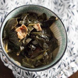 One Pot Southern Collard Greens