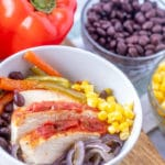 Sheet Pan Chicken Fajita Bowl