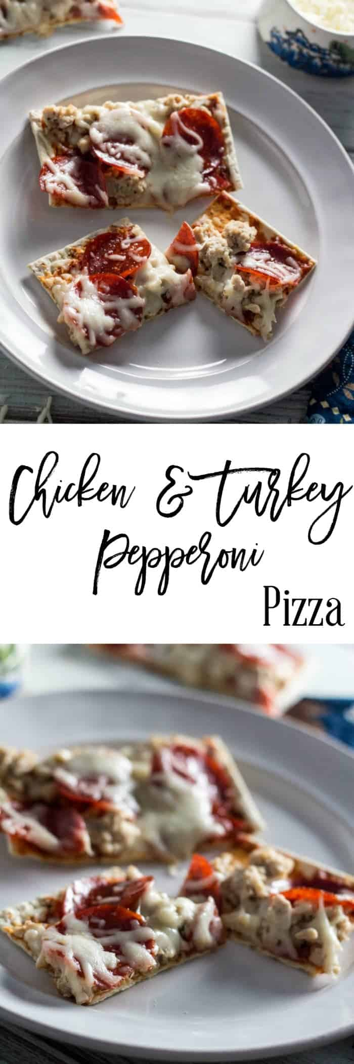 Chicken and Turkey Pepperoni Pizza