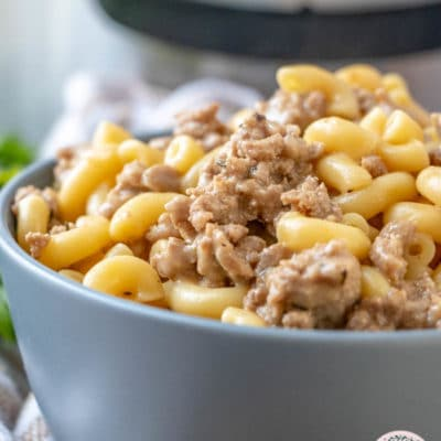 Instant Pot Cheesy Turkey Burger Macaroni