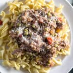 Slow Cooker Steak and Noodles