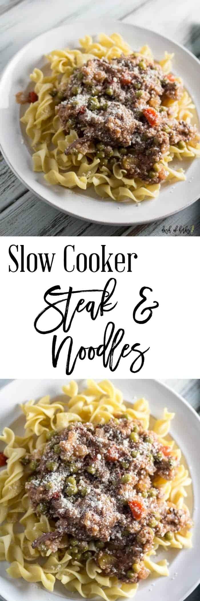 Slow Cooker Steak and Noodles