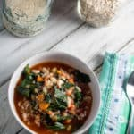 Spicy White Bean and Collard Greens Soup with Rice
