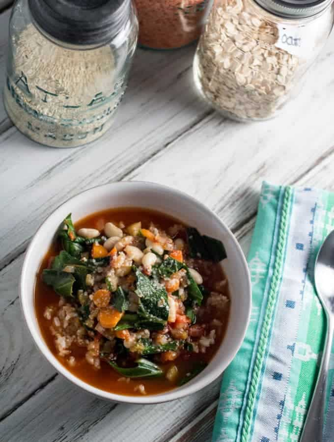 Spicy White Bean and Collard Green Soup