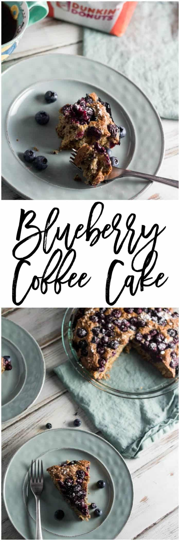 This healthy and easy blueberry coffee cake recipe is a perfect compliment to your morning cup of coffee from @publix.  #DunkinDonutsPublix #Pmedia #ad