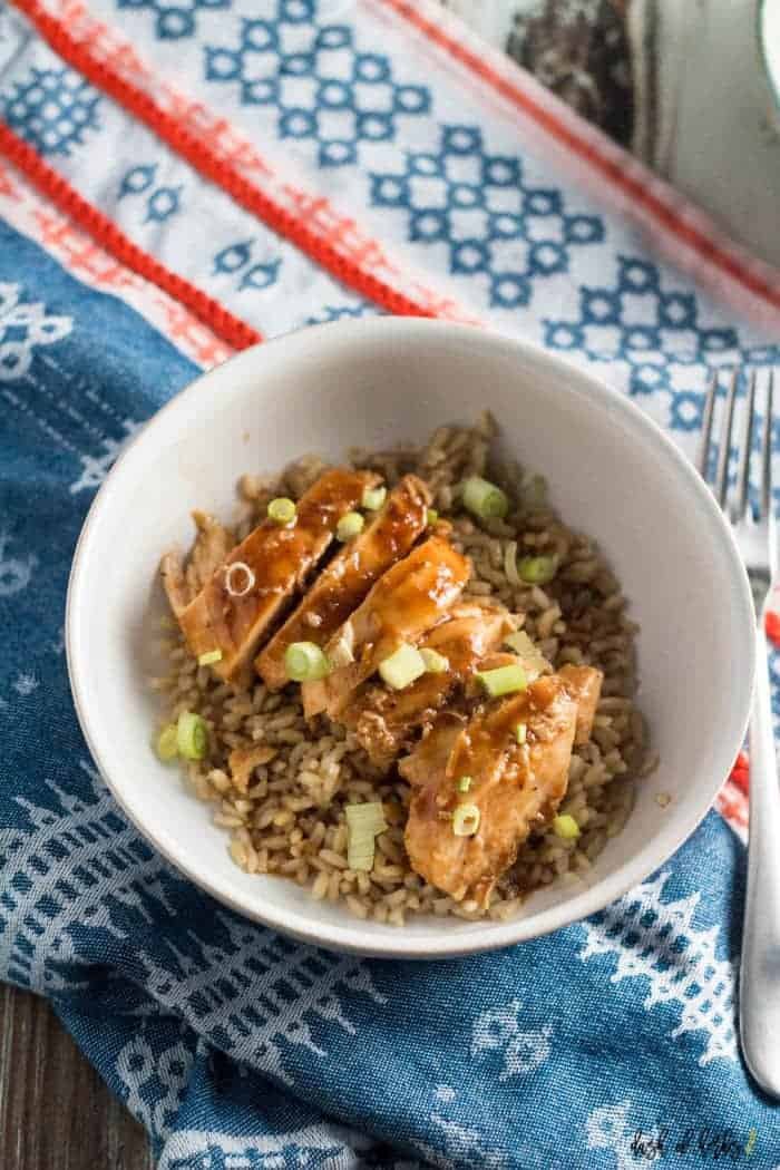 Kid Friendly Baked Sweet and Sour Chicken with Rice