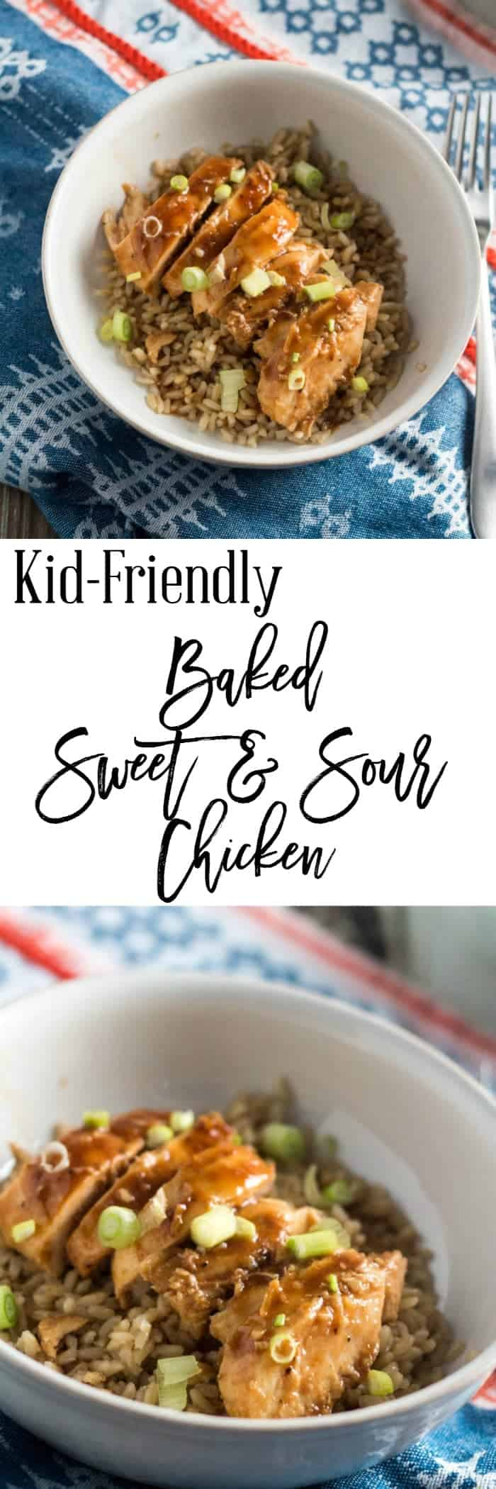 Kid-Friendly Baked Sweet and Sour Chicken with Rice
