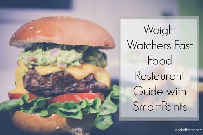Best fast food options on weight watchers