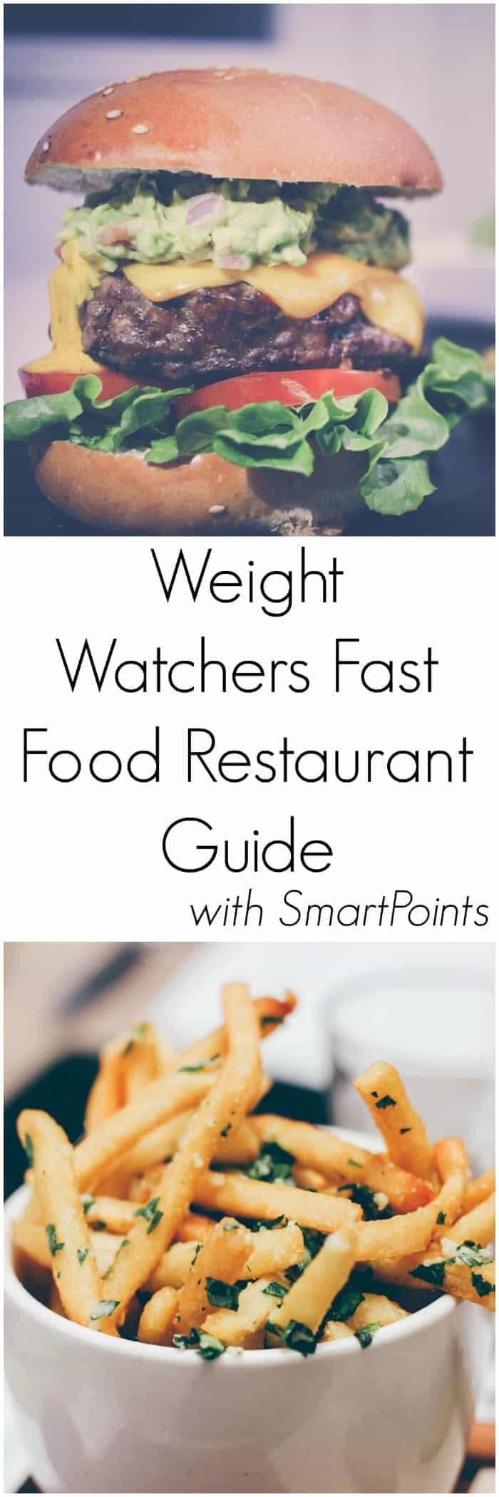 Weight Watchers Fast Food Restaurant Guide with SmartPoints - For those times you are on the go and need to stop for something healthy to eat.
