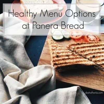 Healthy Menu Options at Panera Bread
