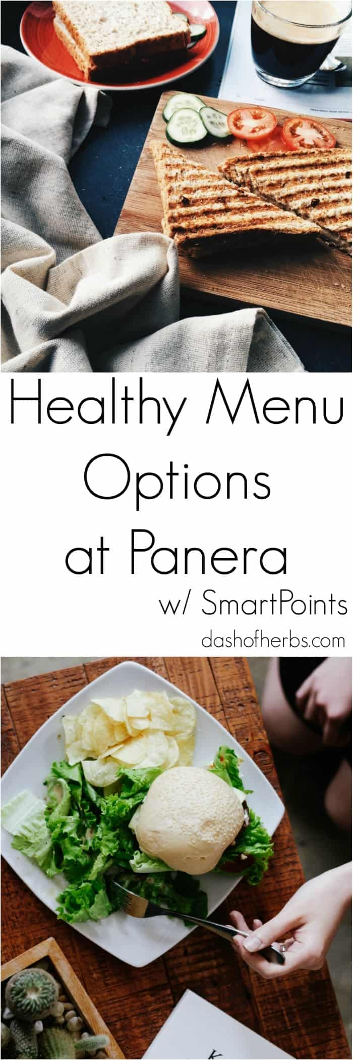 If you hate standing in line at Panera Bread wondering what to order that will be within your Weight Watchers SmartPoints, look no further.  This guide gives you the healthy menu options at Panera Bread with SmartPoints for each item so that you can easily decide what you want to eat.