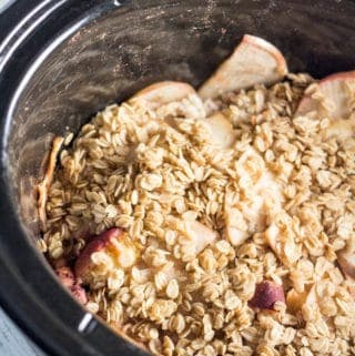 Slow Cooker Apple Peach Crumble