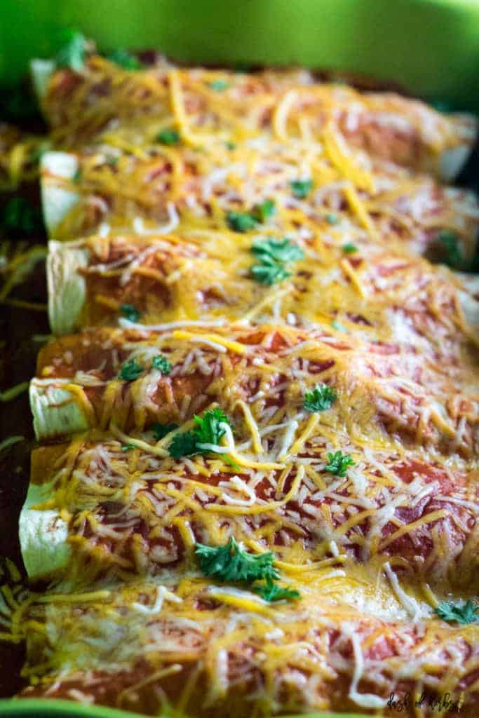 Instant Pot Chicken Enchiladas
