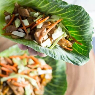 Instant Pot Low-Carb Mu Shu Pork Tacos