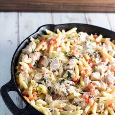 Creamy Bruschetta Chicken Pasta
