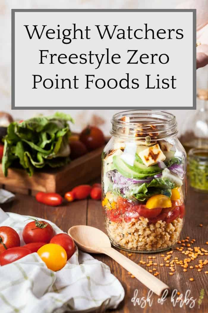 Weight Watchers Freestyle Zero Point Food List