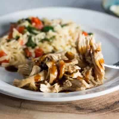 Slow Cooker Teriyaki Chicken and Tomato Orzo Salad