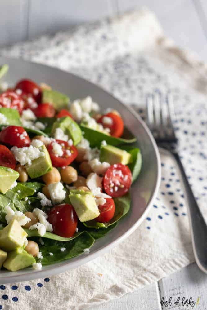 Chickpea Avocado Tomato Salad