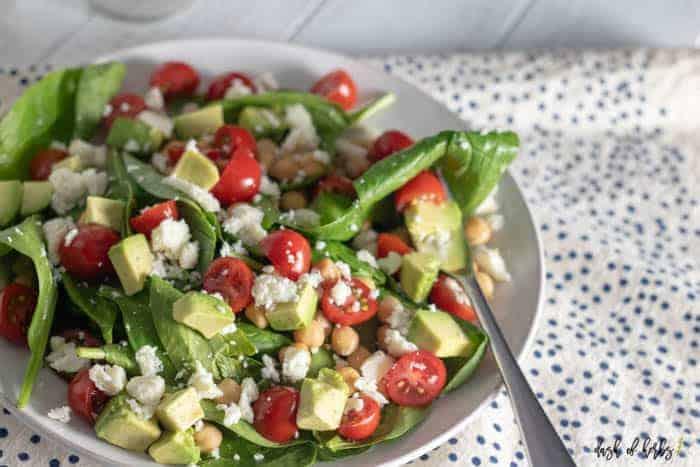 Chickpea Avocado Tomato Salad